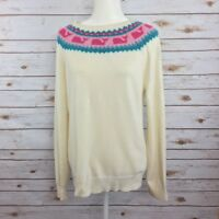 Vineyard Vines Womens Size M Ivory Lambswool Blend Pullover Sweater