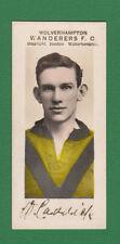 PAULTON'S OF WOLVERHAMPTON - VERY RARE FOOTBALL CARD -  W.  CADDICK  -  1924
