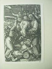 Albrecht DURER VINTAGE incisione su rame TRADIMENTO DI CRISTO PASSIONE-N. 3