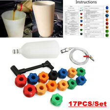 17pcs Car Engine Oil Funnel Filler Cooling System Adaptor Set For Toyota Honda