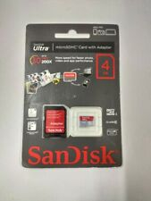 4GB SanDisk Ultra MicroSDHC Memory Card with Adapter 30MB/s