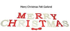 Merry Christmas Felt Garland Banner 2.75m. Xmas Party Decoration