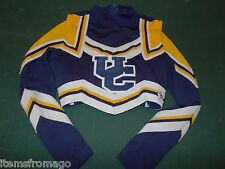 2 Pc - UC Navy Blue, Yellow, & White CDT Cheerleading UNIFORM CROP TOP Yth SMALL