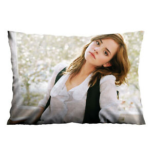 "BEAUTIFUL EMMA WATSON Custom Zippered Pillow Case 16"" x 24"" - 2 Side"