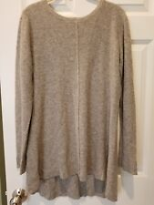 Premise Womens L Large 100% Cashmere Tunic Sweater gray