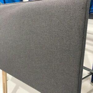 Hypnos GREY strutted Headboard Wide 100cm FOR SINGLE 3FT BED FLAMBLEND GUNMETAL