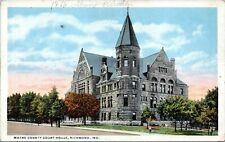 1918 RICHMOND INDIANA Wayne County Court House Postcard CQ