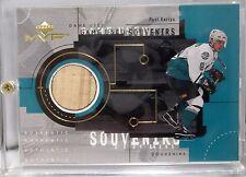 1999-2000 Upper Deck Paul Kariya MVP Game Used Souvenirs Hockey Card #GU15 DUCKS