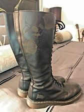 Dr. Martens Women's 20 Eye Boots, Black Skull & Roses, US 10,  EU 42,  UK 8