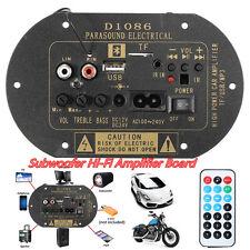Autos 80W Bluetooth Subwoofer Hi-Fi Amplifier Board TF USB & Wireless Controller