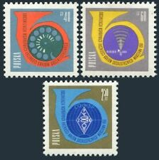 Poland 991-993,993a sheet,MNH.Michel 1244-1246,Bl.24. Post horn,Telephone,Radar,