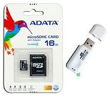 ADATA 16GB Mobile  Micro SD Micro SDHC Class 4 New Memory Card 16G + Card Reader