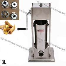 3L Stainless Steel Manual Spanish Donuts Churrera Churro Maker Machine Filler