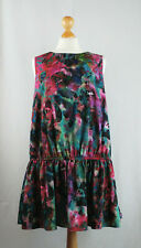 Lindex Floral Ruffle Oversized Cocoon Trapeze Dress