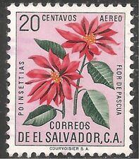 El Salvador Air Post Stamp - Scott #C188/A184 20c Rose Lilac Canc/LH 1960