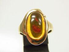 Schöner Bernstein Ring 333 GG honigfarben feine Fassung um 1960