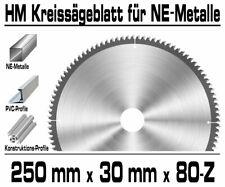 ALU NE-Metall HM Kreissägeblatt Kreissäge Kappsäge Sägeblatt Ø 250mm x 30 x 80-Z