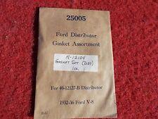 1932 1933 1934 1935 1936 Ford Car Truck Distributor Gasket Set NOS # 18-12104