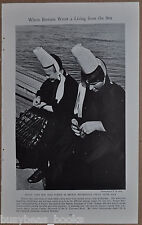 1937 photo article, people of Brittany, Guerande France, Bretons, fishing