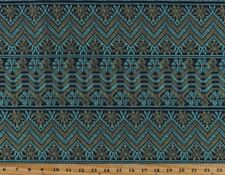 1/2 yd Amy Butler Bright Heart Cosmo Weave in Midnight Chevron Stripes Flowers (