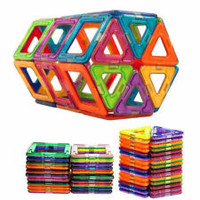 50 pcs Kids DIY 3D Magnetic Blocks Multicolour Construction Building Toys Puzzle