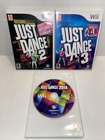Just Dance 2 3 2014( Nintendo Wii ) Lot of 3 Just Dance Games Bundle-FREE SHIP