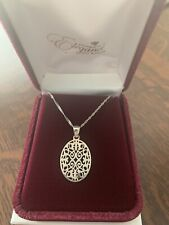 STERLING SILVER PENDANT WITH CHAIN! ~ BEAUTIFUL!!
