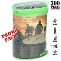 Carry Bag of 300 Toy Plastic Assorted Soldiers Kids Childrens Pretend Play Game