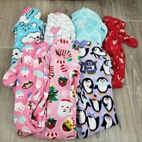 Children's Place Toddler Girls PJ Sleeper 7 piece Bundle Size 2T Fleece PAJAMAS