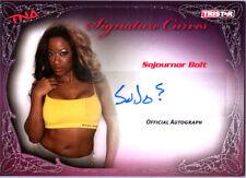 TNA Sojournor Bolt 2009 Knockouts Signature Curves SILVER Autograph Card DWC2