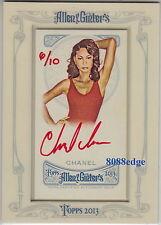 2013 ALLEN & GINTER'S AUTO RED: CHANEL IMAN #3/10 AUTOGRAPH VICTORIA'S SECRET