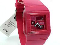 CASIO LADY BABY-G SQUARE ANA/DIG RED BAND BGA200-4 100% BRAND NEW ORIGINAL BOX