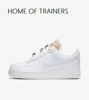 Nike AIR FORCE 1 WHITE LACE GOLD Girls Women's Trainers All Sizes