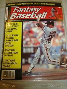 Fantasy Baseball Magazine Sealed - March-April 1990 - Will Clark on Cover