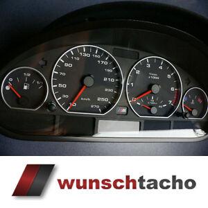 Tachoscheibe für Tacho BMW E46 DIESEL *Alp-Orig*  270 kmh