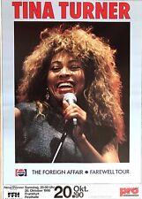 TINA TURNER  1990  FRANKFURT  orig. Concert Poster - Konzert Plakat A1 NEU