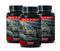 Sexual Aid Caps - Deer Antler Plus 550mg - Deer Antler Velvet Extract Powder 3B