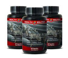 Male Enlargement Pills - Deer Antler Plus 550mg - Elk Antler Velvet Powder 3B