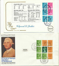 GB 1975/81 Machin Decimal Coils (3) and Booklet Panes (10) on 13 different FDC