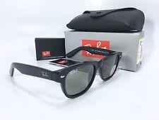 Ray-Ban Sunglasses Wayfarer RB2132 901/58 52mm Black / Green Polarized