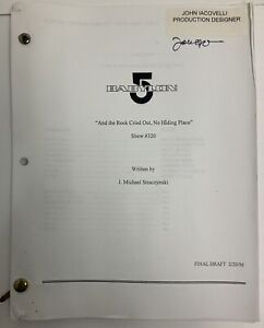 Babylon 5 And The Rock Cried Out, No Hiding Place #320 Signed Script