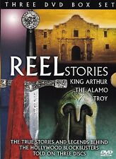 REEL STORIES COLLECTION - King Arthur - The Alamo - Troy - TRUE STORIES 3 x DVDs