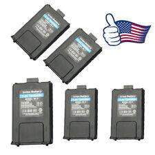 5X 1800mAh Battery for Baofeng UV-5R 5R Plus 5RA BF-F8HP Handheld Walkie Talkie