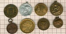 lot de 8 médailles belges , Liège , Bruxelles, Ciney , Léopold II etc