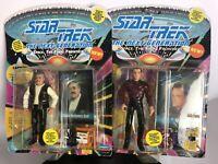 "STAR TREK~1993 Playmates Action Figure~Captain Scott & ""Q""~TNG Movie Toy~MOC"