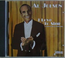 Al Jolson : I Love to Sing (CD) W or W/O CASE EXPEDITED includes CASE