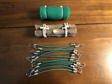 GREEN.Scale Accessories Sleeping Bag+ 12 Bungee Cords + Wood Axial RC4WD Proline