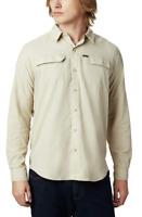 NWT Columbia Mens Silver Ridge 2.0 Long Sleeve Shirt - Fossil - 2XL- $55 MSRP