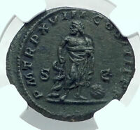 CARACALLA Authentic Ancient 215AD Rome Genuine Roman Coin ASCLEPIUS NGC i77873