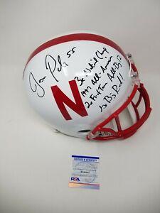 Jason Peter Nebraska 4 Inscriptions Signed Autographed FULL SIZE STAT Helmet